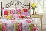 Greenland Home 3-Piece Love Letters Quilt Set, Full/Queen, Multi
