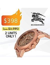 f1dbafa3525f Burberry The City BU9353 - Reloj cronógrafo Unisex de 42 mm con Correa de  Oro Rosa
