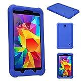 Techgear Schutzhülle für Samsung Galaxy Tab 3 17,78 cm (SM-T210/SM-T211/SM-T215) Robuste Schutzhülle mit Anti-Stoß Heavy Duty zusätzliche Corner & Kantenschutz und Easy Grip Design Galaxy Tab 4 8.0 blau