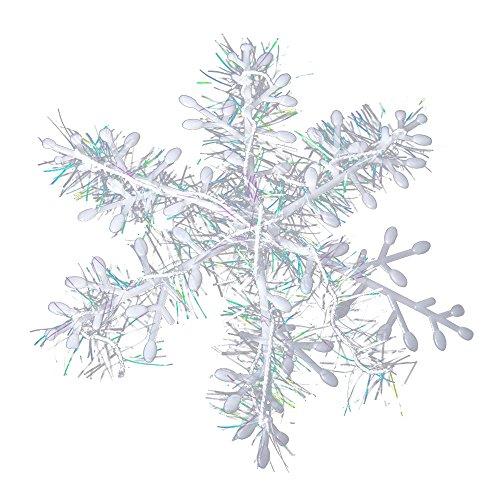 Alxcio Weihnachten Baum Snowflake Innen/Outdoor Decor Xmas Christmas Tree Garten Dekoration Weiße Schneeflocken, 2er Packung, Durchmesser 11cm (Machen Sie Ihre Eigenen Kostüm Kit)