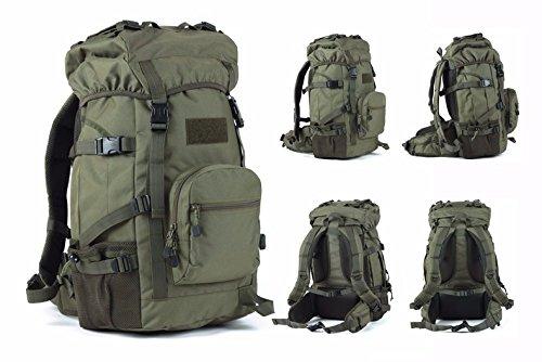 TBB-Alpinismo bag borsa a tracolla impermeabile capacità grande zaino borsa,Giallo 45L Green 45L