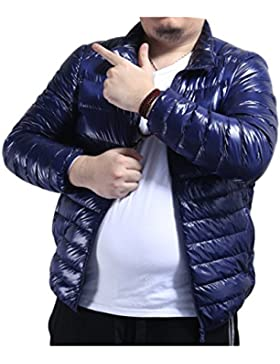 Zhuhaitf Moda Winter Mens Blue Warm Short Jacket Light Weight Down Outerwear de los hombres Coat