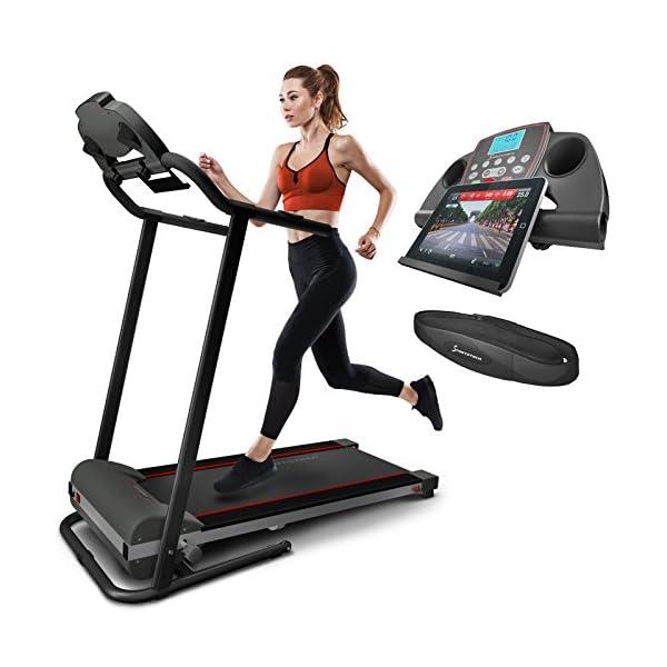 Woman jogging on the Sportstech F10 Treadmill