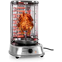 oneConcept Kebab Master Hornogrill Vertical 1800W acero inoxidable (asado a 360°, componentes desmontables y aptos para lavavajillas)