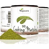 Bio Thé Vert Matcha pour cuisson | 1 Boite de 100g | Haute Qualité | Une boite qui permet de préserver l'arôme | 100% BIO et Naturel | Remboursement garantie en cas d'insatisfaction | Vegan par Vegavero