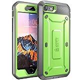 iPhone 7 Hülle, iPhone 8 Hülle, Supcase [Unicorn Beetle PRO] Outdoor Schutzhülle Stoßfest Handyhülle Case mit eingebautem Displayschutz und Gürtelclip für Apple iPhone 7 / iPhone 8, Grün/Grau