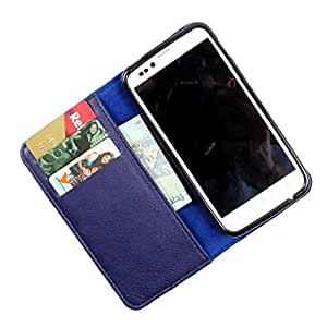 i-KitPit PU Leather Wallet Flip Case Cover For Samsung Galaxy S Duos 2 (Navy Blue)