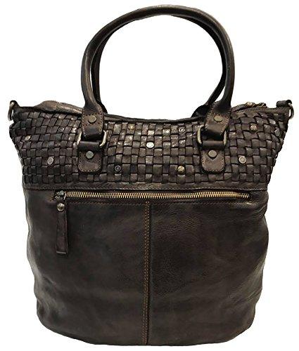 e644b01c4c37e ... Damen Tasche Calliope Paul.hide Beutel Handtasche Schultertasche Vintage  Geflochten Geflochtene Gewaschenes Leder Made In ...