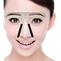 Metal Cejas Grooming Plantilla Card - Namee Brow Perfection Stencils Permanente Eyebrow Herramientas Shaping Plantillas DIY Maquillaje Belleza Accesorios (METEOR EYEBROW)