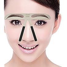 Metal Cejas Grooming Plantilla Card - Namee Brow Perfection Stencils Permanente Eyebrow Herramientas Shaping Plantillas DIY