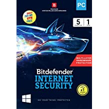 BitDefender Internet Security Latest Version - 5 Devices, 1 Year (Activation Key Card)