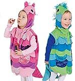 Kinder Kostüm Fisch Weste mit Kapuze Karneval Fasching Gr.104 pink