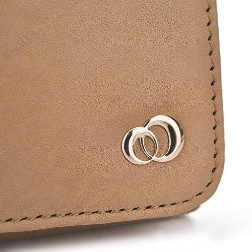 Kroo Pochette Housse Téléphone Portable en cuir véritable pour Huawei P8/Honor Holly Marron - peau Marron - marron