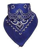 BOOLAVARD 100% Baumwolle, Paisley Bandana Bandana Headwear / Haar-Band-Schal-Ansatz-Handgelenk-Verpackungs-Band-Kopf-Bindung (Schwarz, Rot, Blau, Weiß, etc.) 60+ Stile (37 # Marineblau)