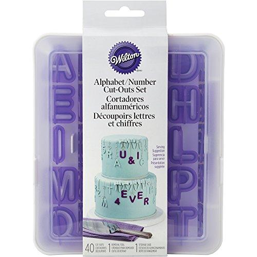 Wilton Alphabet und Zahlen Aussparungen Set, Violett, 42