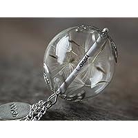 XXL Namenskette Silber Glück Kette Name Geschenk Wunschfüllung Löwenzahn Blüten