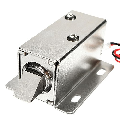 TuToy 24V Dc 0.8A Electric Lock Assembly Solenoid Cabinet Door Drawer Lock (Door Lock Assembly)