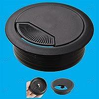 Generic A1. Num. 3462. Grito. 1.. 4x 60mm negro escritorio encimera organizador de cables cable negro D contador counte superficie y sur ERT agujero Insertar para ordenado en cables.. NV _ 1001003462-wruk23_ 951