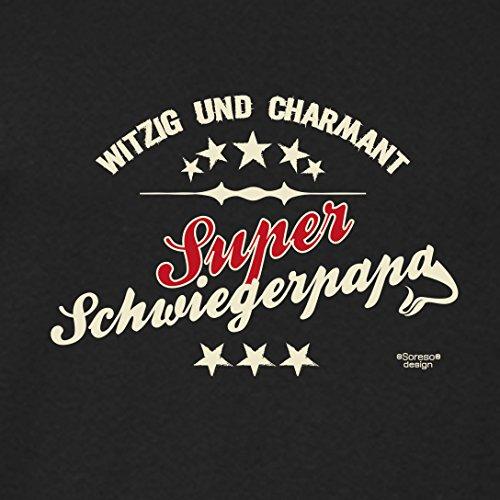 Fun T-Shirt - Super Papa - Das Geschenk zum Vatertag Geburtstag Weihnachten Farbe: schwarz schwarz-05