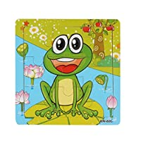 Puzzles Toys,JACKY Children Kids Frog Wooden Jigsaw Learning Puzzles Toys