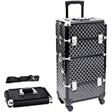 Songmics® beauty case maleta multiusos tipo trolley Maletín para maquillaje Estuche de maquillaje JHZ04B