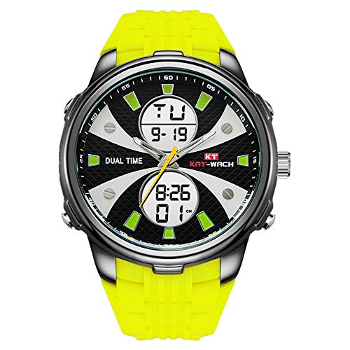 Wasserdichte Uhr Der MäNner, LED Mode Digital Quarz Datum Uhren Luxus MilitäR Sportuhr FüR...