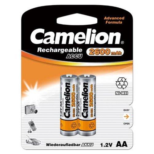Camelion 17026206 Batterie rechargeable 2 accus R06 / AA / 2600 mAh sous blister