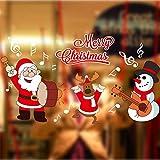Natale Adesivi Display Rimovibile Natale Addobbi Murali Fai da te Finestra Decorazione Vetrina Adesivi e murali da parete Sticker decorativi ( 2 fogli X 25 * 70cm ) (A)