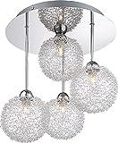 Globo 5662–4D New Design Anhänger Lampe, Chrom
