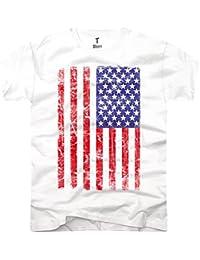 TEE-Shirt, Herren T-Shirt USA FLAG