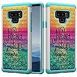 Flor mariposa búho patrón Bling Flash Diamond 2 en 1 doble armadura cubierta de protección de choque híbrido para Samsung Galaxy Note 9 Funda protectora de teléfono todo incluido ( PATTERN : 5 )