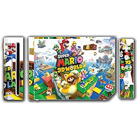 Super Mario 3D World 2 Land Mario Luigi Peach Toad Cat Suit Video Game Vinyl Decal Skin Sticker Cover for the Nintendo Wii System Console by Vinyl Skin