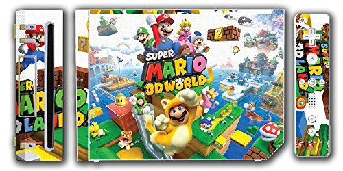Super Mario 3D World 2 Land Mario Luigi Peach Toad Cat Suit Video Game Vinyl Decal Skin Sticker Cover for the Nintendo Wii System Console by Vinyl Skin Designs