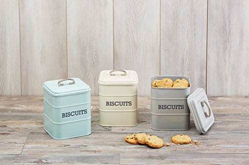 Kitchen Craft Living Nostalgia Duck Egg Blue Biscuit Tin