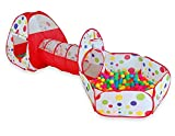 Campfine 3 dans 1 Tente de Jeu Gonflable de Tente d'enfants et Tente de Jeu d'enfant de Boule de Pit avec Le Cerceau de Basket-Ball, pour l'usage d'intérieur et extérieur avec Sac de Transport.