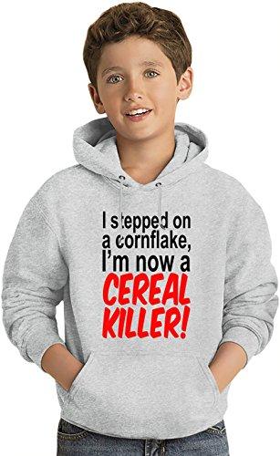 i-stepped-on-a-cornflake-im-now-a-cereal-killer-slogan-felpa-leggera-con-cappuccio-per-bambini-light