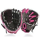 Louisville Slugger–Set paleta de albañil FG Diva Softball guantes Infielders - WTLFGDV14-HP105REG, Rosado