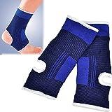 Fasciatura, sondereu elastico supporto caviglia Tutore per caviglia protezione nocche Sprung fascia da polso per uomo e donna Sport Blu