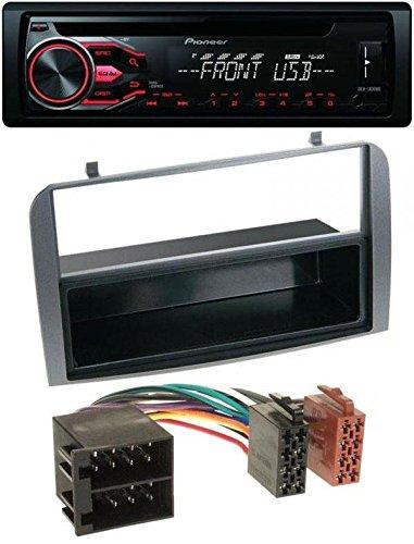 Pioneer CD MP3 USB AUX Autoradio für Alfa Romeo 147, GT - Ablagefach anthrazit (Pioneer Audio Autos)