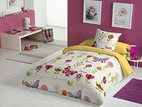 Valentina Juego De Funda Nórdica Two Butterflies Multicolor Cama 90 (150 x 220 cm + 45 x 110 cm)
