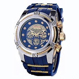 Quartz Watch Press Fashion Men's Watch Waterproof Quartz Watch Wristwatch Quartz Watch in Ariba Silver Blue