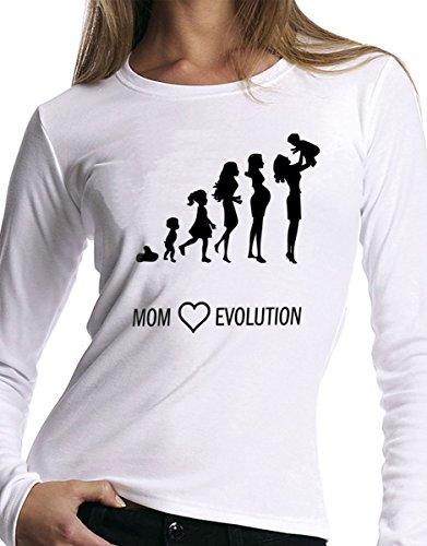 t-shirt manica lunga festa della Mamma - Mom evolution - S M L XL XXL uomo donna bambino maglietta by tshirteria