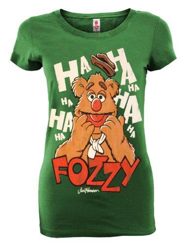 Fozzy Bear Muppet Show Damen T-Shirt grün Größe (Bear Fozzy)