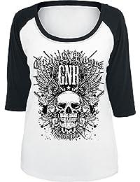 Guns N' Roses Destruction Manches Longues Femme blanc/noir