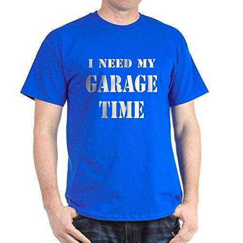 CafePress need Garage Zeit–T-Shirt aus 100% Baumwolle Gr. Medium, königsblau (T-shirt Zeit Garage)