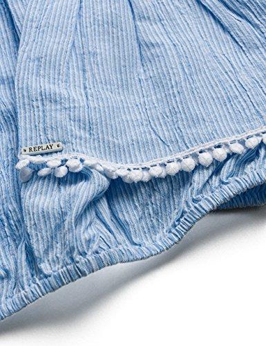 Replay W2877 .000.51902, Blouse Femme Bleu (White/azure 10)