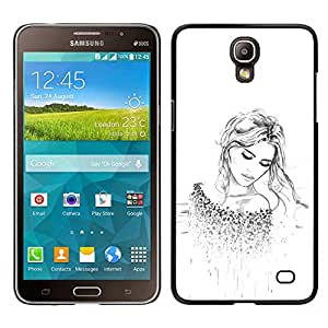 For Samsung Galaxy Mega 2 , S-type® Blonde Fashion Tattoo White Clean - Kunst & Design Hartplastik Handy-Schutzhülle Schale Hülle Case Cover