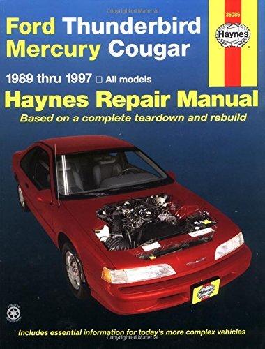 Ford Thunderbird and Mercury Cougar (1989-97) Automotive Repair Manual (Haynes Automotive Repair Manuals) by Ken Freund (15-Jan-1991) Paperback