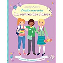J'habille mes amies - La rentrée des classes - Autocollants Usborne