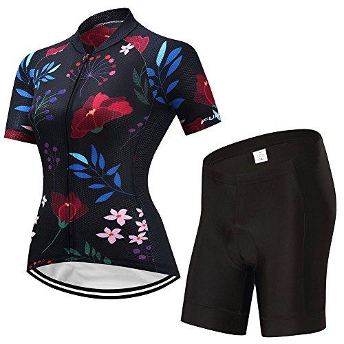 XINGFUZH Maillot de Cyclisme aux Femmes Manches Courtes...